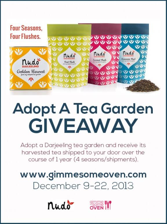 NUDO Adopt A Tea Garden GIVEAWAY | gimmesomeoven.com #giveaway #holiday