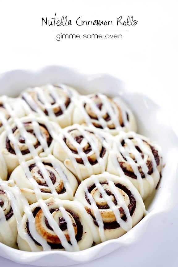 1-Hour Nutella Cinnamon Rolls Recipe | gimmesomeoven.com