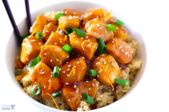 Chinese Food Orange Chicken Recipe Skinny orange chicken recipe gimme ...