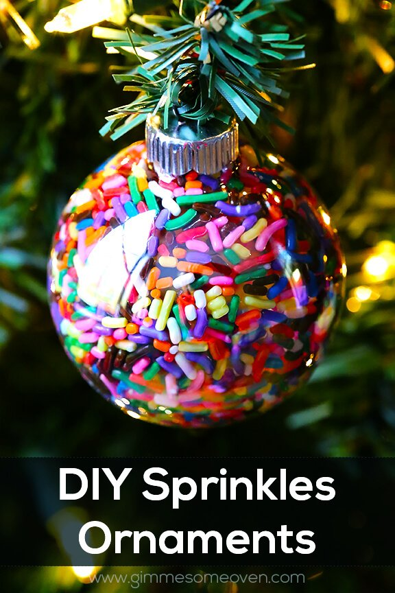 DIY Sprinkles Ornaments | Gimme Some Oven
