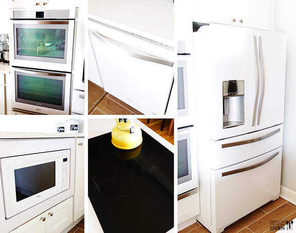 Kitchen Remodel: Whirlpool White Ice Appliances | gimmesomeoven.com