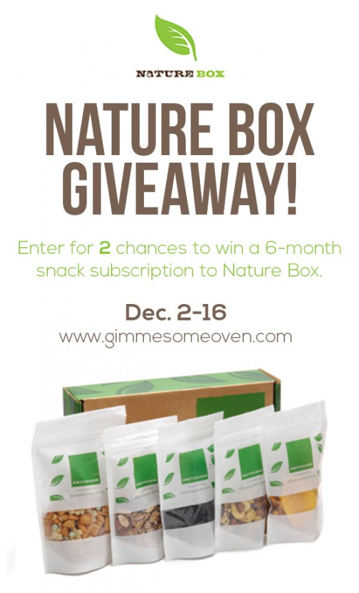 Enter for a chance to win delicious and healthy snacks from Nature Box! | gimmesomeoven.com