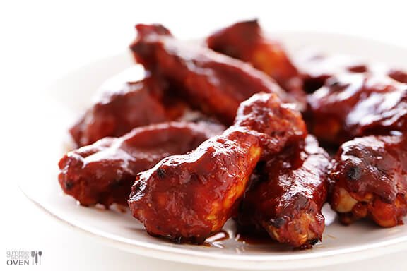 (Skinny!) BBQ Baked Chicken Wings