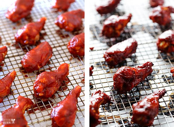 BBQ Baked Chicken Wings | gimmesomeoven.com