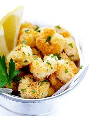 Skinny Popcorn Shrimp Recipe | gimmesomeoven.com #appetizer