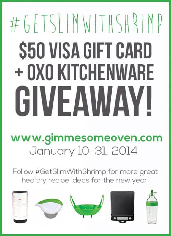 $50 Visa Gift Card + OXO Gift Set #GIVEAWAY | gimmesomeoven.com #getslimwithshrimp