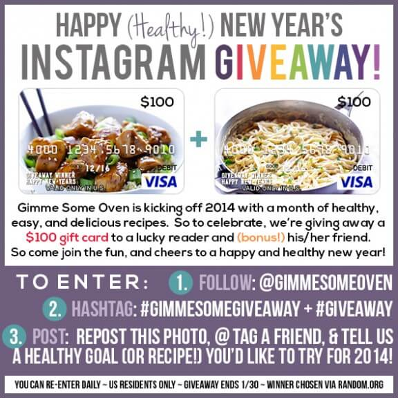 Healthy New Year Instagram Giveaway | gimmesomeoven.com