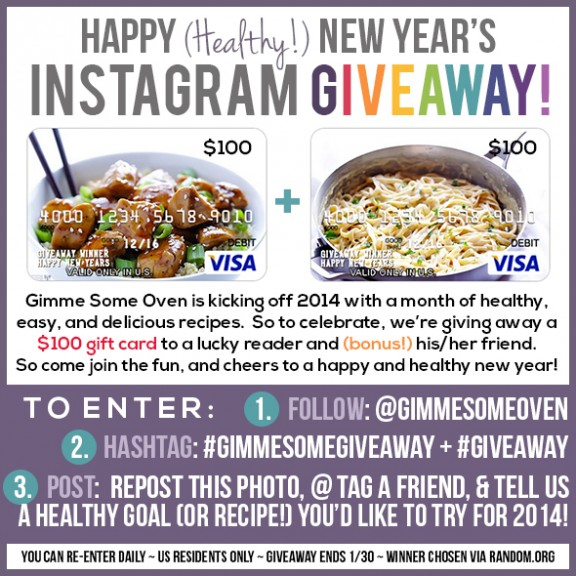 New Year's Instagram Giveaway | gimmesomeoven.com #gimmesomeoven.com