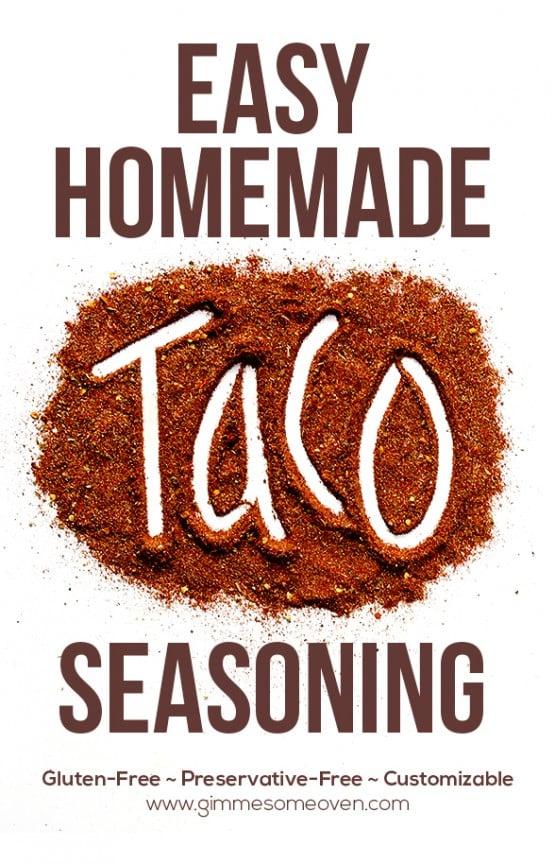 Homemade Taco Seasoning | gimmesomeoven.com
