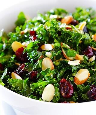 Kale Cranberry Salad | gimmesomeoven.com