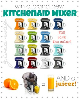 KitchenAid Mixer + Juicer Giveaway