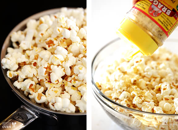 The BEST Butter-Free Popcorn (Nooch Popcorn) -- it's #vegan, #glutenfree, #dairyfree, healthier, and SO tasty! gimmesomeoven.com