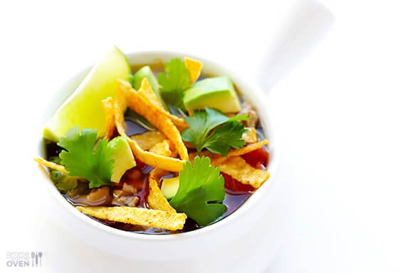 Skinny Slow Cooker Taco Soup 4