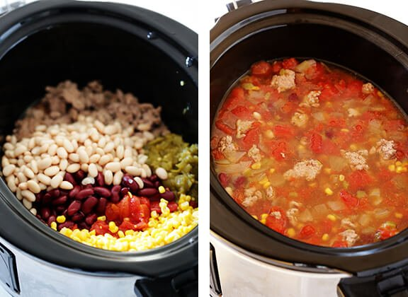 Skinny Slow Cooker Taco Soup 7