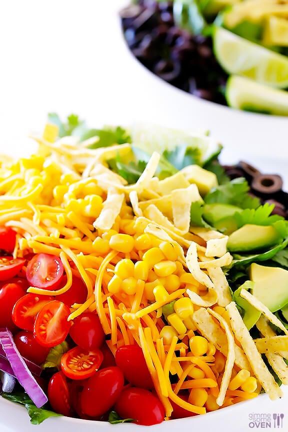 Skinny Taco Salad | gimmesomeoven.com