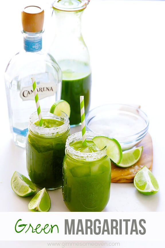5-Minute Green Margaritas Recipe | gimmesomeoven.com