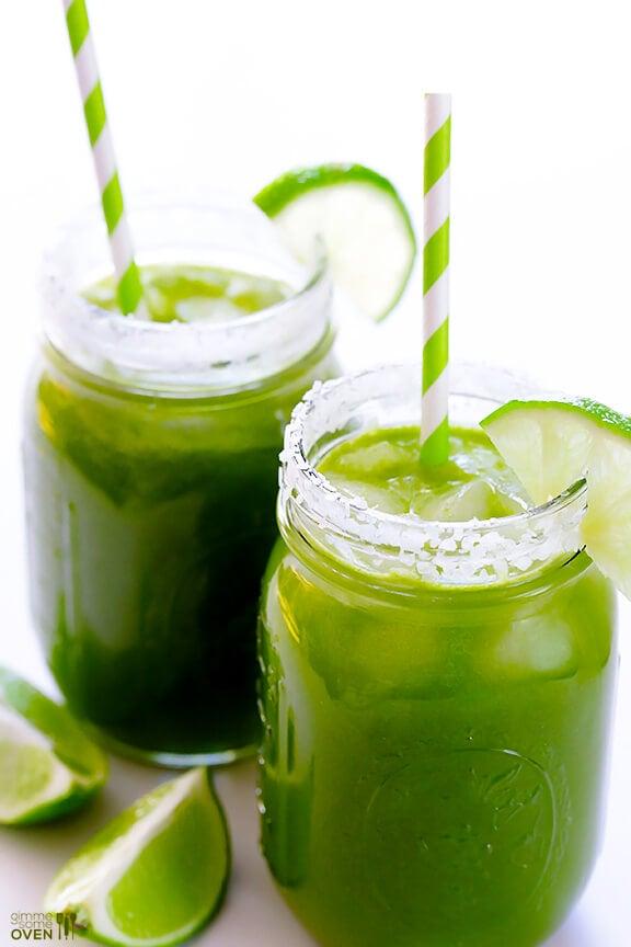 5-Minute Green Margaritas Recipe   gimmesomeoven.com