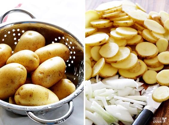 Easy Lemon Chicken Potato Casserole | gimmesomeoven.com