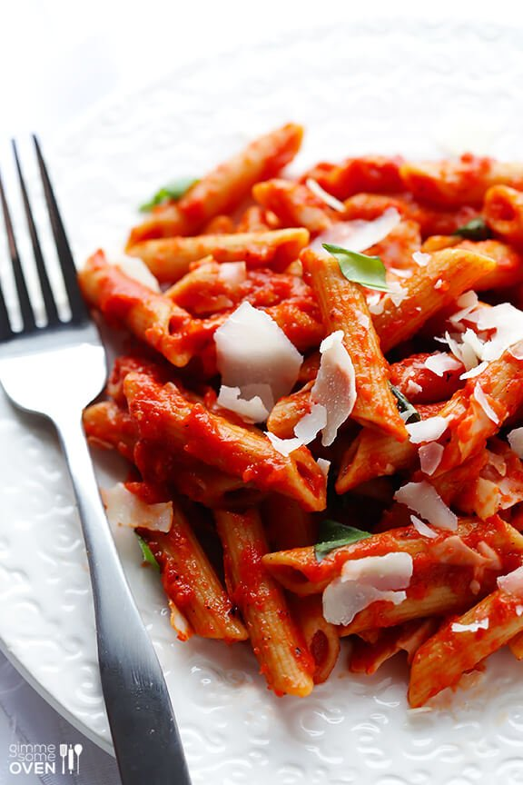 print yield about 4 6 pasta with roasted red pepper