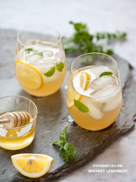 Whiskey Lemonade | Foodie Crush