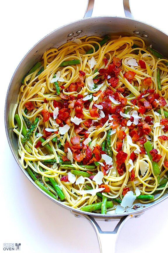 5-Ingredient Asparagus Bacon Pasta 3