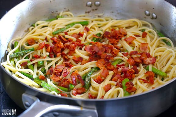 5-Ingredient Asparagus Bacon Pasta 9