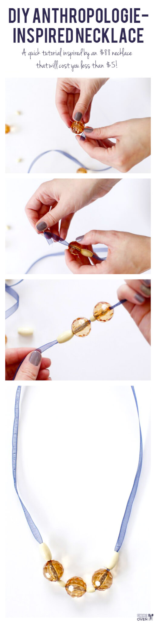 DIY Anthropologie Inspired Necklace -- a quick and easy tutorial inspired by an $88 necklace that will cost you less than $5! | gimmesomeoven.com/style #DIY #tutorial
