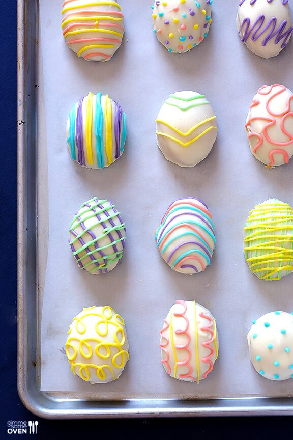 4-Ingredient Easter Egg (Golden) Oreo Truffles