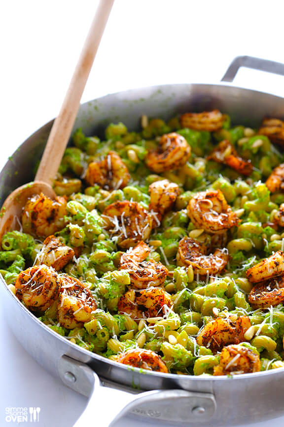 Asparagus Spinach Pesto Pasta 6