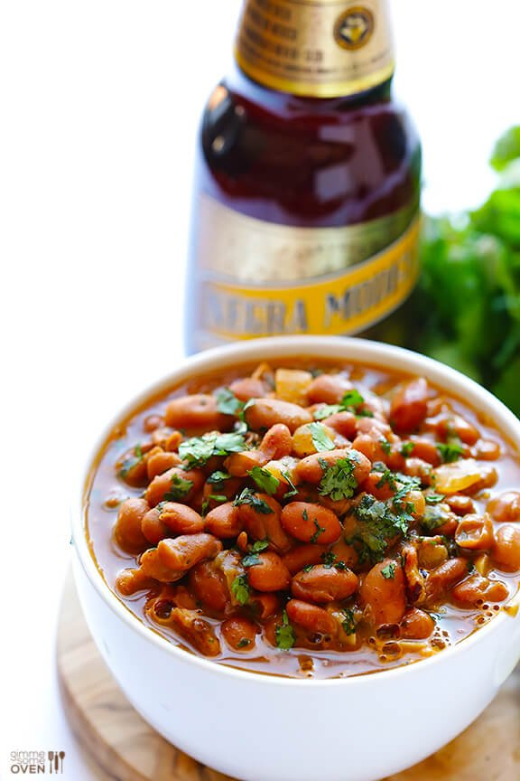 Drunken Beans (Frijoles Borrachos) | Gimme Some Oven