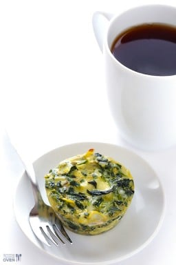 Easy Spinach Artichoke Quiche Cups