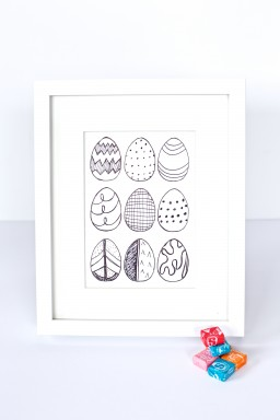 Easy DIY Easter Egg Art Prints {Gimme Some Oven}