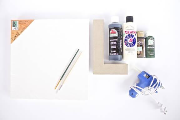 DIY Geometric Letter Art | www.gimmesomeoven.com/style