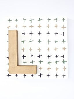 DIY Geometric Letter Art {Gimme Some Oven}