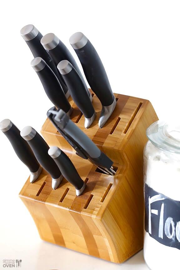 pampered chef 450 knife block set giveaway - Chef Knives Set