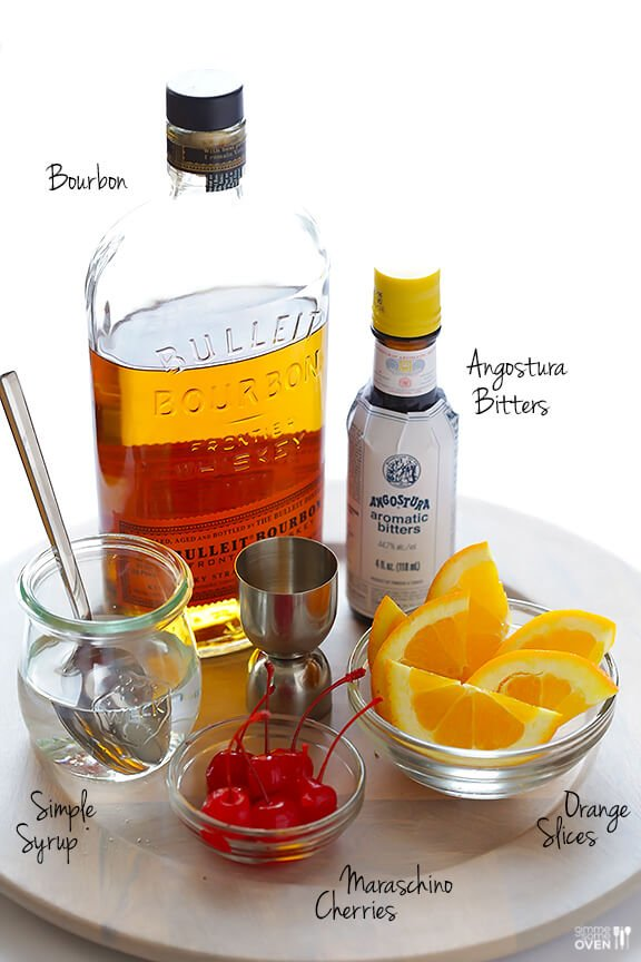How To Make An Old Fashioned Cocktail Recipe | gimmesomeoven.com #drink #cocktail #vegan #glutenfree