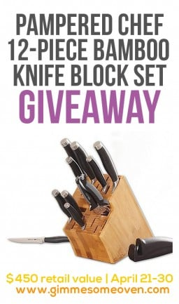 Pampered Chef 12-Piece Knife Block Set Giveaway {Gimme Some Oven}