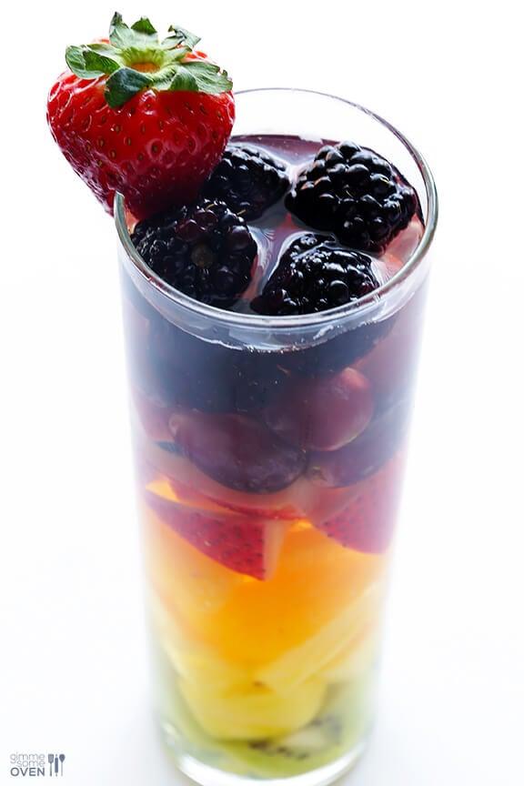 Easy Rainbow Sangria   gimmesomeoven.com #drinks #vegan #glutenfree