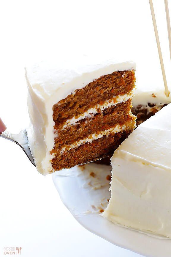 "Vegan Gluten-Free Carrot Cake -- made with a heavenly (vegan) ""cream ..."
