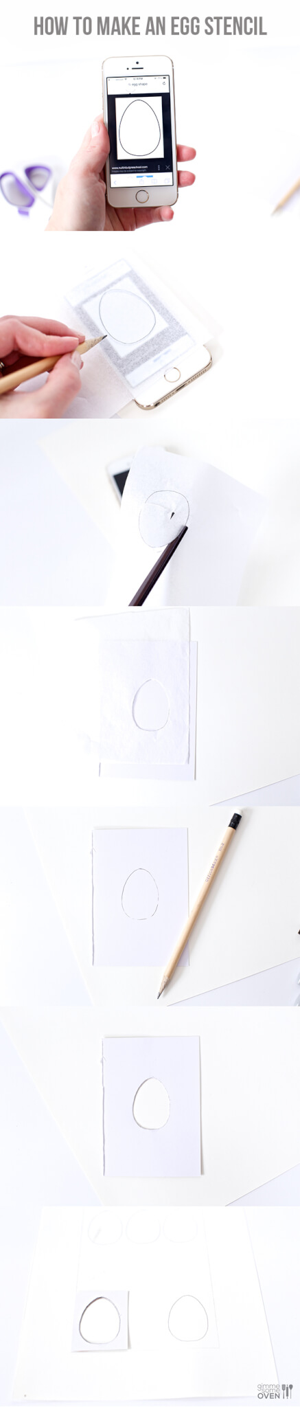 How To Make An Egg Stencil | gimmesomeoven.com