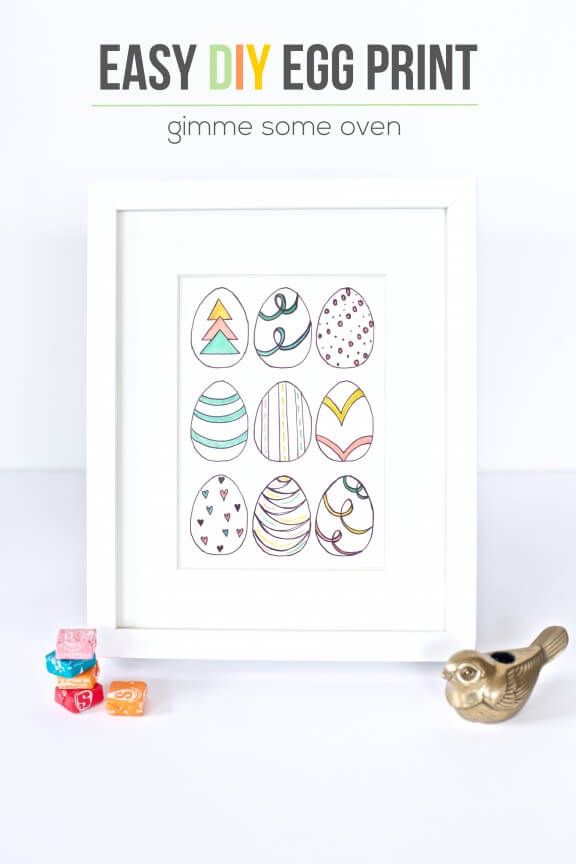 Easy DIY Egg Prints | www.gimmesomeoven.com/style