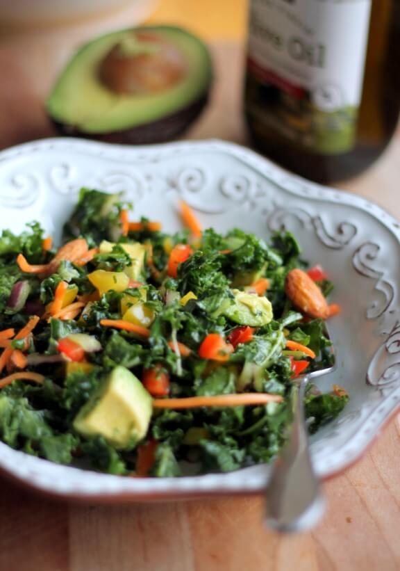 Kale Rainbow Detox Salad | ambitiouskitchen.com