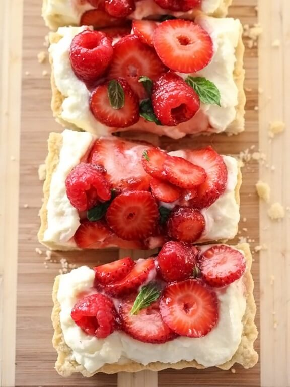 Berry Tart with Lemon Curd Marscapone   Foodie Crush