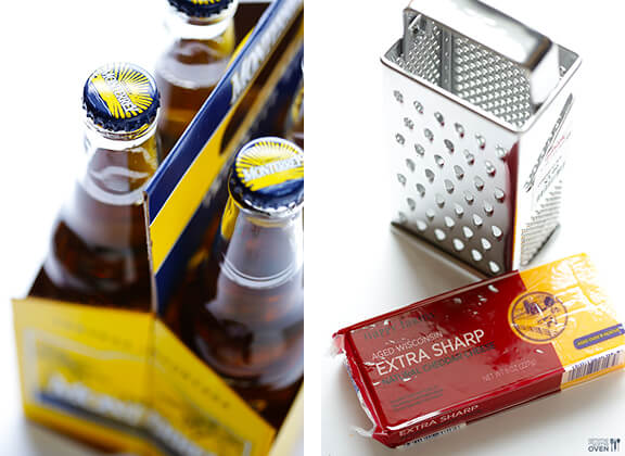 Garlic Cheddar Beer Bread   gimmesomeoven.com #recipe