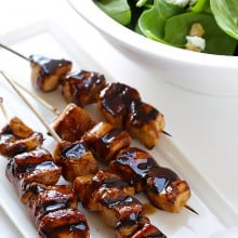 DeLallo Balsamic Chicken Skewers | gimmesomeoven.com #giveaway