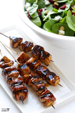 Easy Balsamic Chicken Skewers + BIG GIVEAWAY!