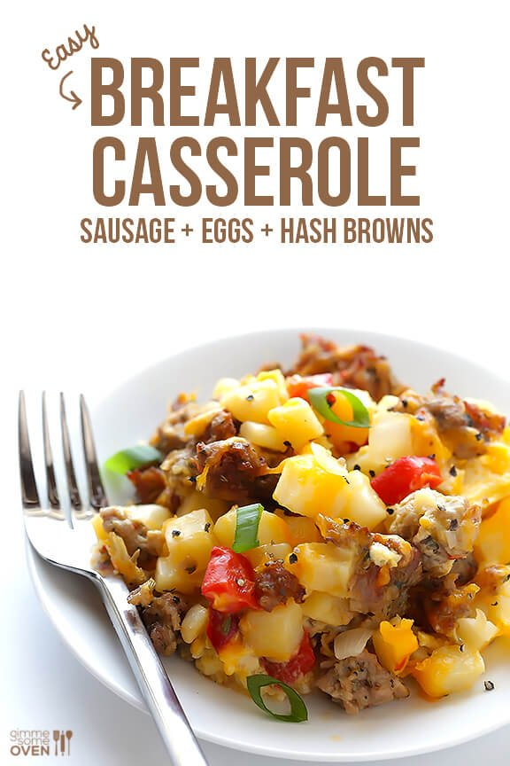 Easy Cheesy Breakfast Casserole   gimmesomeoven.com