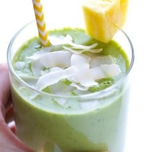 Green Pina Colada Smoothie 1