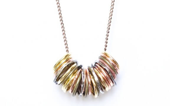DIY Metal Ring Necklace | www.gimmesomeoven.com/style