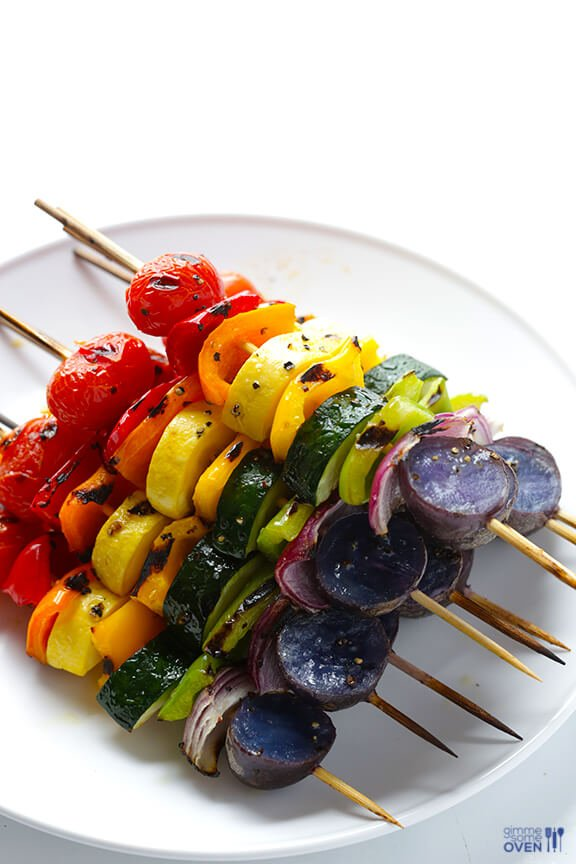 Rainbow Veggie Skewers | Savory Skewer Recipes | Quick And Easy Homemade Recipes